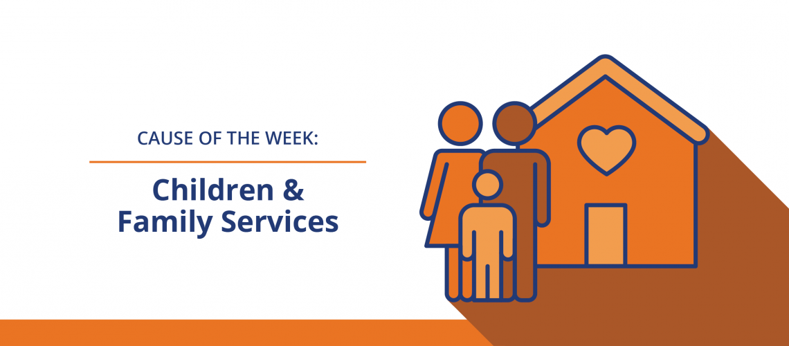 Children and Family Services icon of family and home