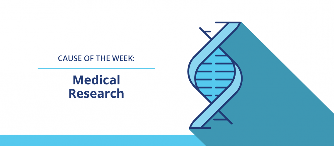 """Web banner of medical sign with words """"Medical research"""""""